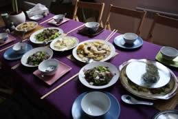 Repas cuisine chinoise diététique